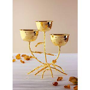 طبق تقديم ثلاثي رويال تاتش - ذهبي