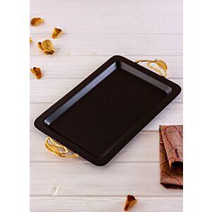 صينية تقديم كوليبري - أسود وذهبي كبير