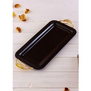 صينية تقديم كوليبري - أسود وذهبي صغير