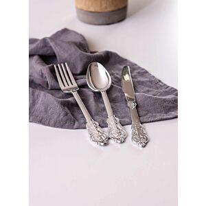 أدوات طعام كوين - لون فضي