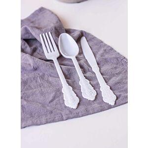 أدوات طعام كوين - لون أبيض