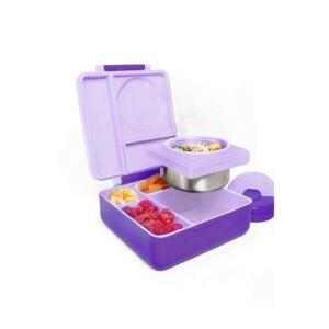 علبة طعام بينتو للأطفال أومي بوكس مع علبة معزولة، أومي لايف لون أرجواني