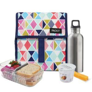 حقيبة توضيب طعام قابلة للتفريز، ألوان زاهية، باك إيت-PackIt
