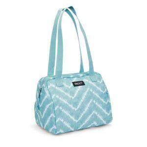 حقيبة توضيب الطعام هامبتون قابلة للتفريز، أزرق مموّج، باك إيت-PackIt