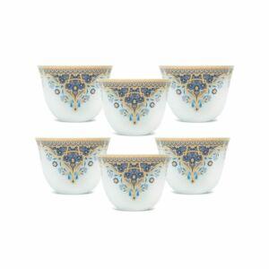 طقم فناجين قهوة عربية غالف بريز- أزرق- 6 قطع من نوريتاكي Noritake