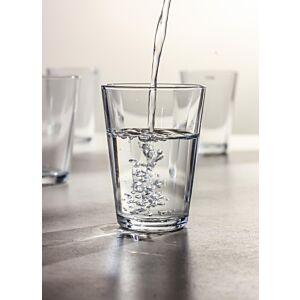 كوب زجاجي شفاف 6 حبات