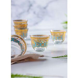 طقم شفاف فناجيل قهوة 12 السلطان