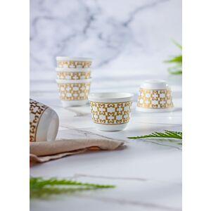 طقم فنجان قهوة عربي 12 قطعة ذهبي - صناعة تركية