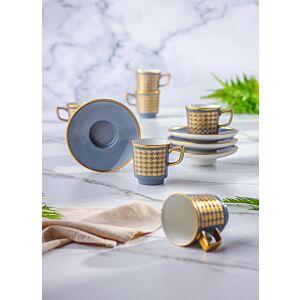 طقم فنجان قهوة 12 قطعة تركي
