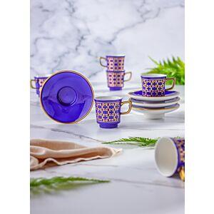 طقم فنجان قهوة تركي 12 قطعة ازرق