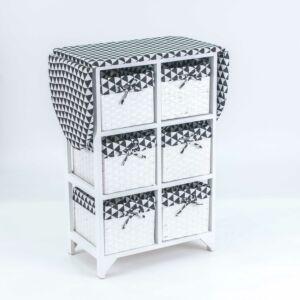 طاولة كوي مع سلال تخزين لابيرت - أبيض