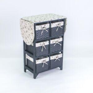 طاولة كوي مع سلال تخزين لابيرت - أسود