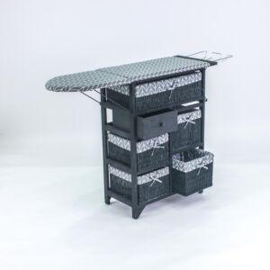 طاولة كوي مع سلال تخزين بيلينا - أسود