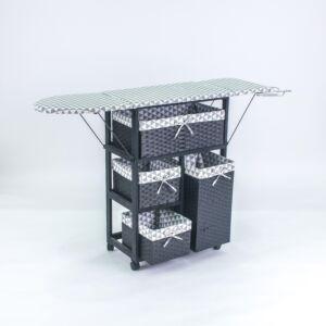 طاولة كوي مع سلال تخزين سوزيت - أسود