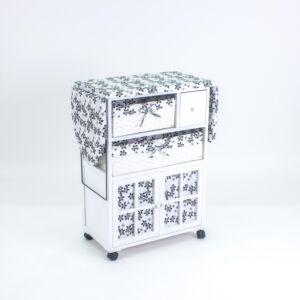 طاولة كوي مع خانات تخزين كيندا - أبيض