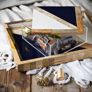 طقم صينية وصندوق تقديم تراينغالز