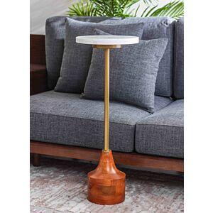 طاولة جانبية مارشال - لون أبيض