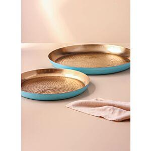 طقم صواني تقديم رومارينا- لون أزرق فاتح