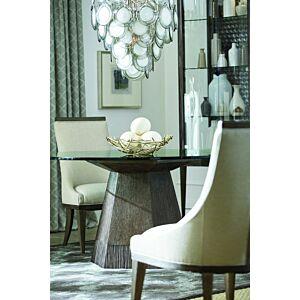 "Geode - Bluff Dining Table w/ 60"" Glass Top طاولة طعام"