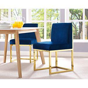 كرسي Haute Navy Velvet Chair