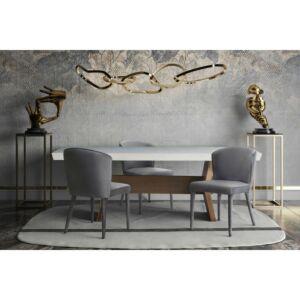 كرسي Metropolitan Grey Velvet Chair