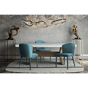 كرسي Metropolitan Sea Blue Velvet Chair