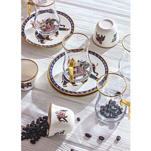 طقم فناجين شاي وقهوة إنديان إليفانتز