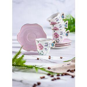 طقم فناجين شاي سبرينغ فلاورز-زهري - ل4 أشخاص
