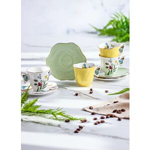طقم فناجين شاي سبرينغ فلاورز -ملون- ل4 أشخاص
