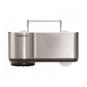 حاملة أدوات حوض الجلي فولاذية، سيمبل هيومان-Simplehuman
