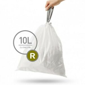أكياس R لسلة المهملات 10 ليتر، 20 قطعة، سيمبل هيومان-Simplehuman