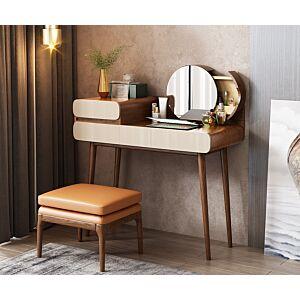 طاولة تزيين مع مرآة ومقعد ساما