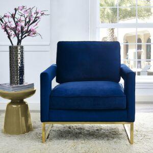 Aavery navy velvet chair