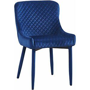 كرسي Draco Navy Velvet Chair