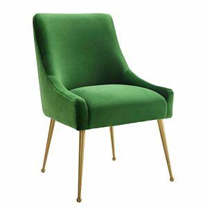 كرسي Beatrix Velvet Side Chair- Gold legs.