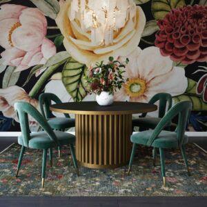 Ppetra forest green velvet side chair
