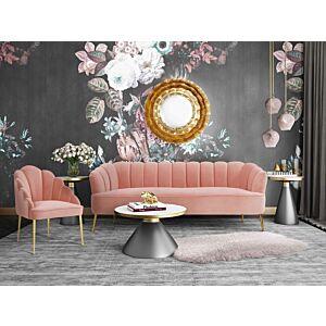 Ddaisy petitie blush velvet sofa