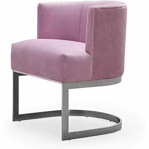 كرسي Eva Blush Velvet Chair