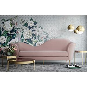 Pplato blush velvet sofa