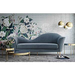 Plato Grey Velvet Sofa