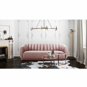 Aarno mauve velvet sofa