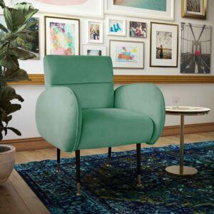 Babe Mint Green Velvet Chair كرسي