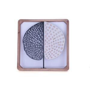 ديكور جداري من الخشب الأخاذ مربع الشكل متعدد الألوان - 39x39سم - 2881