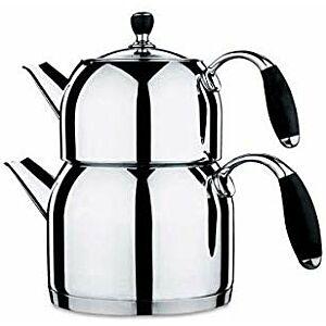 ابريق إعداد الشاي التركي من كوركوماز-أسود