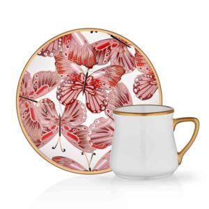 طقم فناجين قهوة Vens - وردي