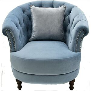 كرسي Velvet Sky Blue Chair