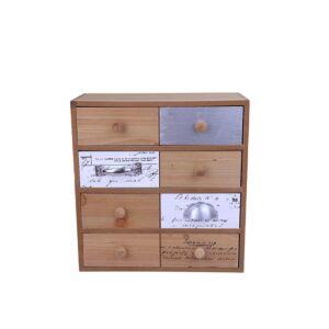 أدراج ديكور من الخشب عدد 8 بتصميم أخاذ متعدد الألوان - 28x29x12سم - 291
