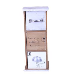 أدراج ديكور من الخشب عدد 3 بتصميم أخاذ متعدد الألوان - 13x34سم - 293